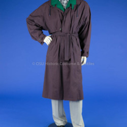 Man's Purple Trench Coat