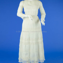1911 White Cotton Lingerie Dress