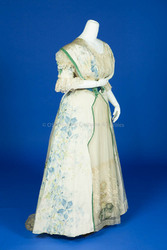 1903-1908, Warp Print Silk Taffeta Dress